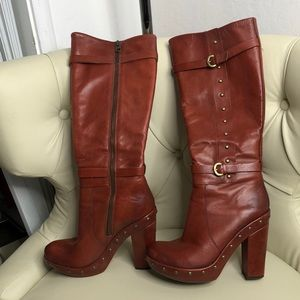 Kork- Ease Bailey Rust Leather Tall Boots